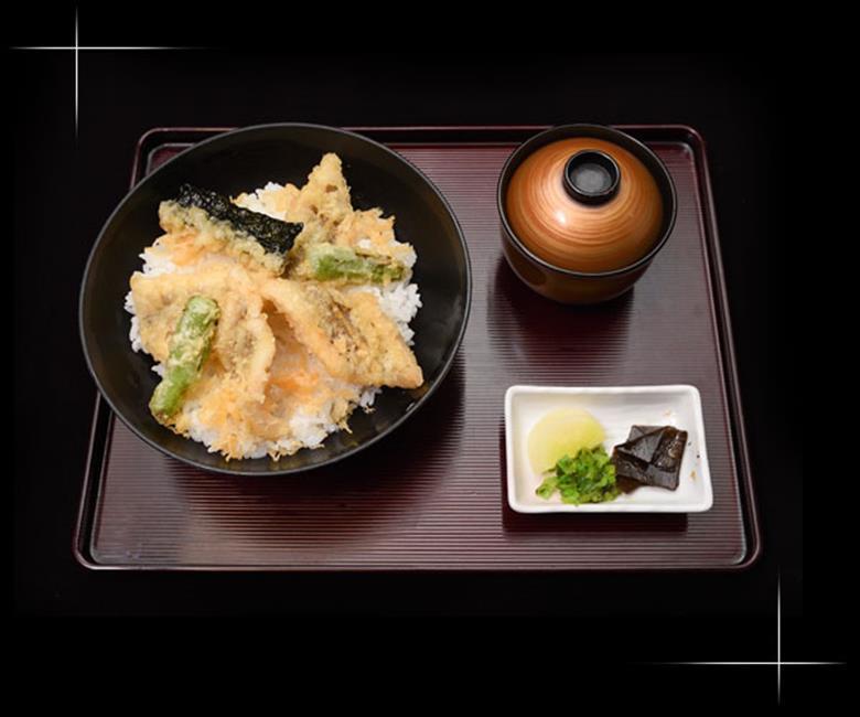 穴子天丼のメニュー写真