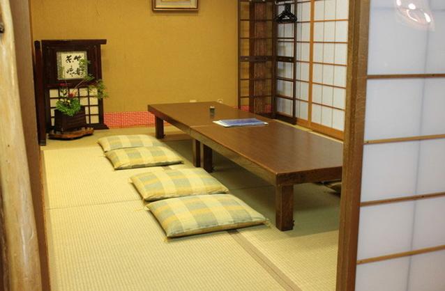 深川本店の二階個室(お座敷)